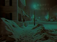 Holidays: Snowy Town
