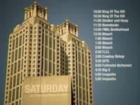 Saturday Schedule Building