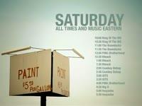 Saturday Schedule Paint Sale