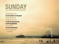 Sunday Beach Schedule