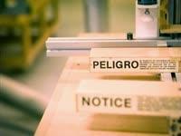 Peligro Notice