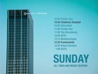 Sunday Schedule Blue Tower
