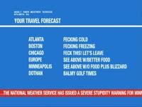 Travel Forecast MN Scroller