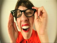 Girl with Glasses Laughs