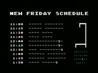 New Friday Schedule