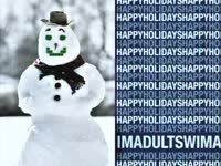 Holidays: Blue Snowman