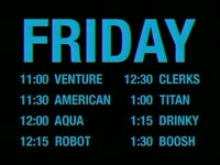 Flashing Friday Schedule