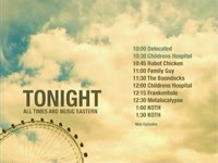 Tonight Schedule Ferris Wheel