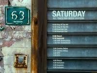 Saturday Schedule 63 Door