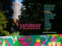 Saturday Schedule Mural