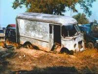 Broken White Van