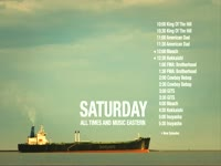 Saturday Schedule Black Tanker