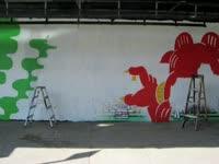 Red Cat Mural