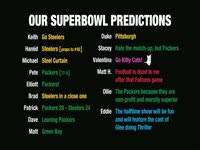 Superbowl XLV Predictions