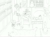 BW Drawings: Book Slurp