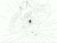 BW Drawings: Wolfman's Chase