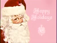 Holidays - Pink Santa