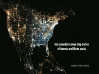 Eric Fisher Twitter / Flickr Map