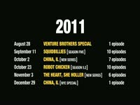 2011-2012 Premiere Schedule