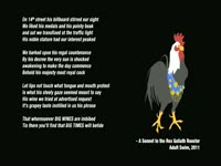 Sonnet to Rex Goliath Rooster
