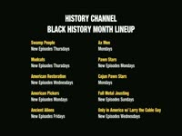 History Channel 'Black History Month' Lineup
