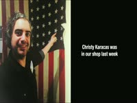 Christy Karacas American Flag