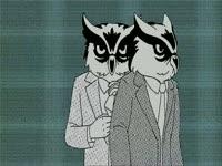 Ink Drop: Owls in Suits