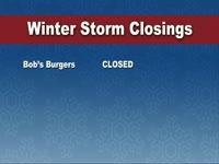 Winter Storm Show Closings